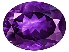 Amethyst With Needles Oval 20.00ct