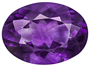 Amethyst With Needles 18x13mm Oval 10.00ct
