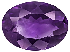 Amethyst With Needles 16x12mm Oval 6.50ct