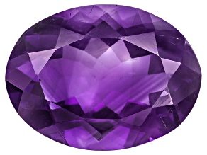 Amethyst With Needles 16x12mm Oval 7.50ct