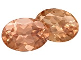 Pink Zircon 7x5mm Oval Set of 2 2.00ctw