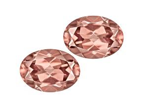 Pink Zircon 7x5mm Oval Set 2.00ctw