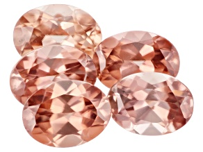 Blush Pink Zircon 8x6mm Oval Set of 5 9.35ctw