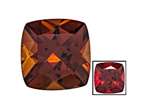 Honey Red Garnet Color Shift 9mm Square Cushion 3.25ct