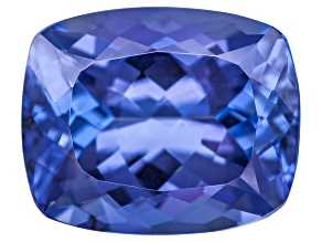 Blue Tanzanite 3.75ct  10x8mm Rectangular Cushion Mixed Cut