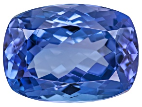 Blue Tanzanite 3.20ct  10.5x7.5mm Rectangular Cushion Mixed Cut