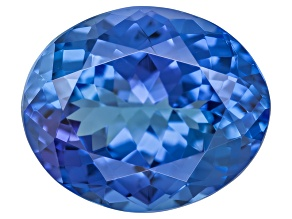 Blue Tanzanite 12x10mm Oval 4.75ct