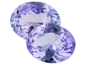 3.15ct Lavender Tanzanite 9x7mm Matched Pair Oval