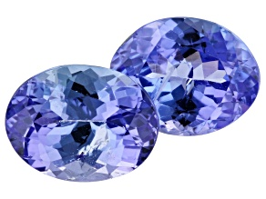 4.12ct Tanzanite 9x7mm Matched Pair Included Oval