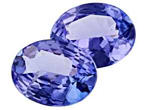3.03ct Tanzanite 9x7mm Matched Pair Oval