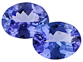 3.08ct Tanzanite 9x7mm Matched Pair Oval