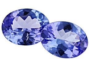 3.38ct Tanzanite 9x7mm Matched Pair Oval