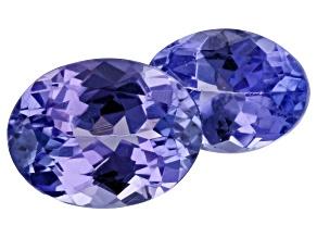 2.69ct Purple Tanzanite Varies mm Set Of 2 Oval