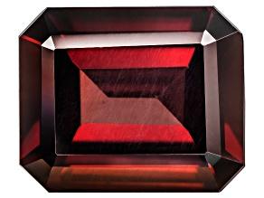 Red Zircon 12x10mm Emerald Cut 7.25ct