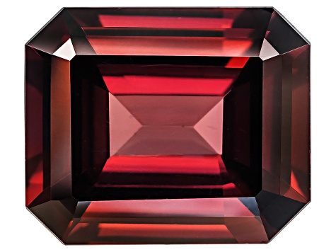 Red Zircon 12x10mm Emerald Cut 6.75ct