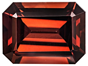 Red Zircon 8x6mm Emerald Cut 2.00ct