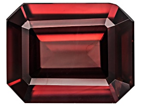 Red Zircon 9x7mm Emerald Cut 2.50ct