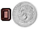 Red Zircon 9x7mm Emerald Cut 3.50ct