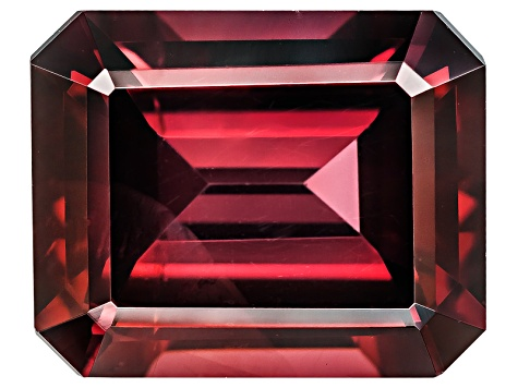Red Zircon 10x8mm Emerald Cut 4.25ct