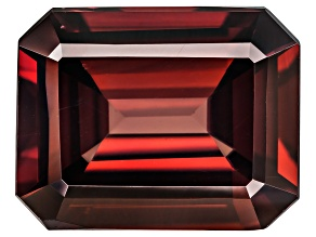 Red Zircon 11x9mm Emerald Cut 5.50ct