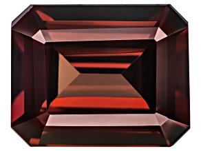 Red Zircon 11x9mm Emerald Cut 5.75ct