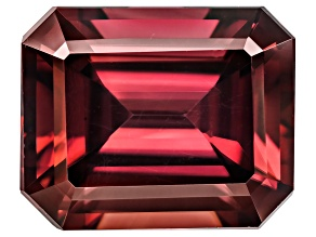 Red Zircon 11x9mm Emerald Cut 7.00ct