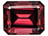 Red Zircon 11x9mm Emerald Cut 7.50ct