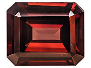 Red Zircon 12x10mm Emerald Cut 8.00ct
