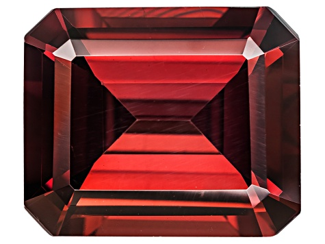 Red Zircon 12x10mm Emerald Cut 8.25ct
