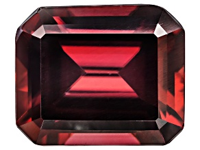 Red Zircon 12x10mm Emerald Cut 8.75ct