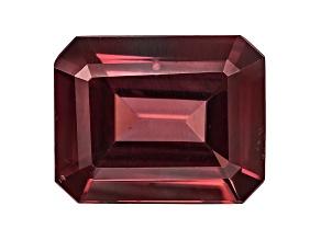 Red Zircon 11x9mm Emerald Cut 4.75ct