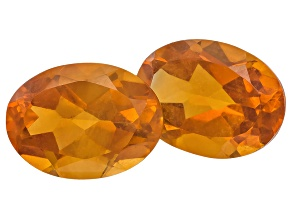 Citrine 8x6mm Oval Matched Pair 2.00ctw