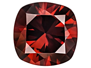 Red Zircon 9mm Square Cushion 4.25ct