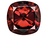 Red Zircon 9mm Square Cushion 3.75ct