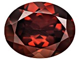 Red Zircon 11x9mm Oval 4.00ct