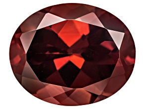 Red Zircon 11x9mm Oval 5.50ct
