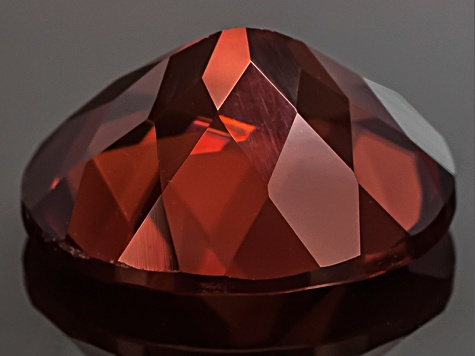 Red Zircon 11x9mm Oval 5.50ct