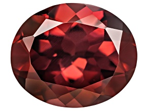 Red Zircon 11x9mm Oval 4.50ct