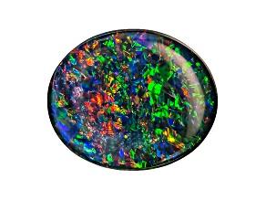 Australian Opal Triplet 12x10mm Oval Cabochon