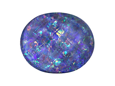 Australian Opal Triplet 12x10mm Oval Checkerboard