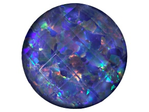 Australian Opal Triplet 10mm Round Checkerboard Top