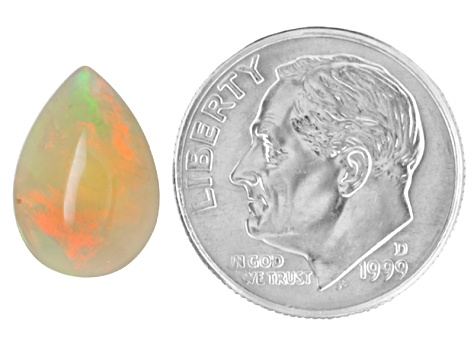Ethiopian Opal 13x9mm Pear Cabochon 2.00ct