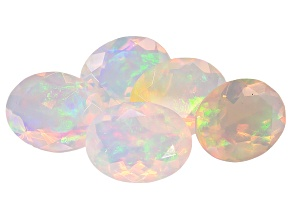 Ethiopian Opal 9x7mm Oval Set of 5 4.50ctw
