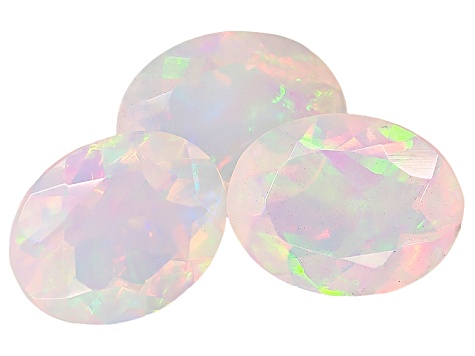Ethiopian Opal 9x7mm Oval Set of 3 2.65ctw