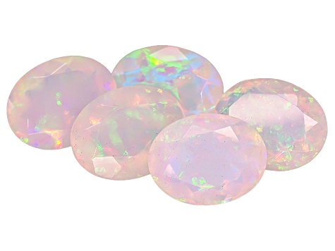 Ethiopian Opal 9x7mm Oval Set of 5 5.00ctw