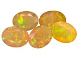 Ethiopian Opal 9x7mm Oval Set of 5 3.45ctw