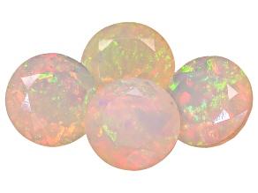 Ethiopian Opal 8mm Round Set of 4 4.60ctw