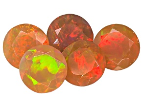 Ethiopian Opal 7mm Round Set of 5 4.00ctw