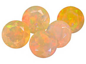 Ethiopian Opal 7mm Round Set of 5 3.75ctw