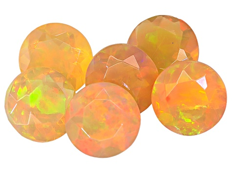 Ethiopian Opal 6mm Round Set of 6 3.50ctw